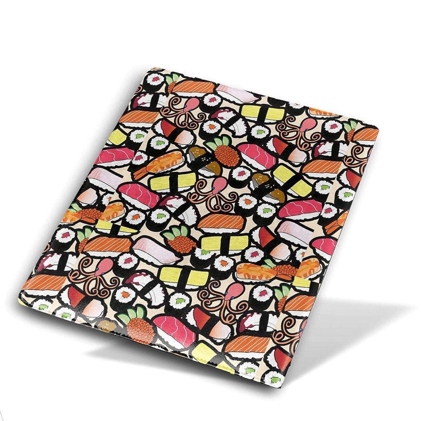 ご飯北把握Book Cover ブックカバー 防水 PUレザー(ノートブック用)プリント ヴィンテージ Size 28*51 Cm 日本の寿司