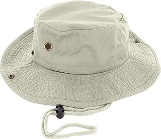 DealStock 100% Cotton Boonie Fishing Bucket Men Safari Summer String Hat Cap
