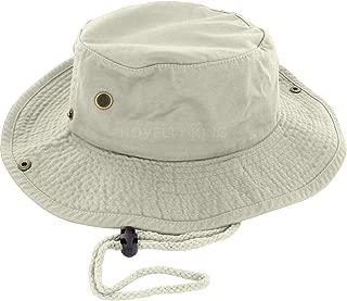100% Cotton Boonie Fishing Bucket Men Safari Summer String Hat Cap (15+ Colors)