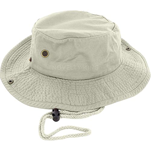 DealStock 100% Cotton Boonie Fishing Bucket Men Safari Summer String Hat Cap  (15+ 091bad075f8