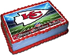 Kansas City Chiefs NFL Personalized Cake Topper Icing Sugar Paper 1/4 8.5 x 11.5 Inches Sheet Edible Frosting Photo Birthday Cake Topper (Best Quality Printing)