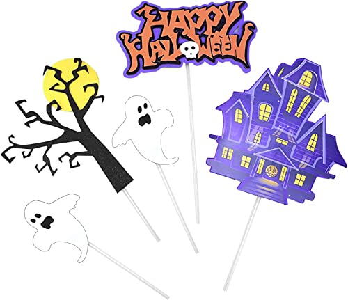 popular Halloween Theme Cake Topper Cupcake Decoration lowest - Bat, Pumpkin Smiley, Spider, Ghost, Cat, 2021 Bat, Witch, Devil'S Haunted House and Other Small Plug-Ins Decoration (Style B) outlet sale