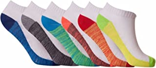 12 Pair Mens Coloured Breathable Quality Trainer Liner Ankle Socks UK Size 6-11