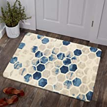 Lahome Honeycomb Geometric Hexagon Area Rug - 2' X 3' Non-Slip Distressed Area Rug Small Accent Throw Rugs Floor Carpet fo...
