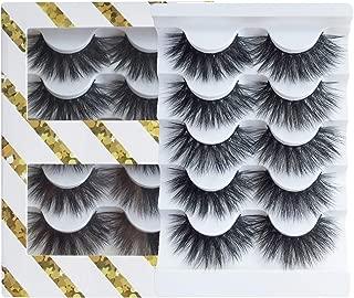 JIMIRE High Volume False Eyelashes Fluffy 3D Lashes Pack 5 Pairs