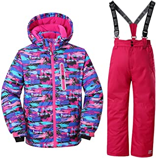 FREE FISHER Unisex Baby 2pc Puffer Down Winter Warm Snowsuit Jacket//Snow Ski Bib Pants
