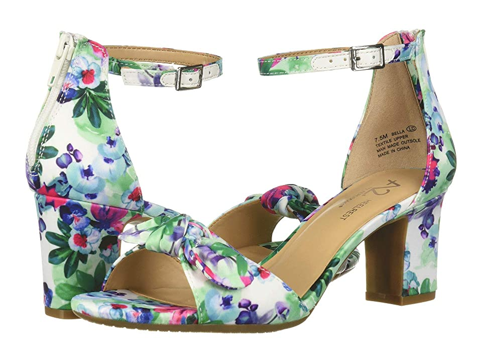 A2 by Aerosoles Bella (White Floral Satin) Women's Sandals, Multi
