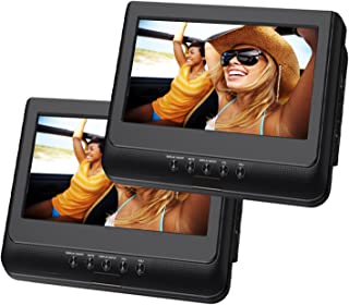 Sylvania 10-Inch Dual Screen Portable DVD Player with USB Card Slot, Remote Control and Car Seat Mount