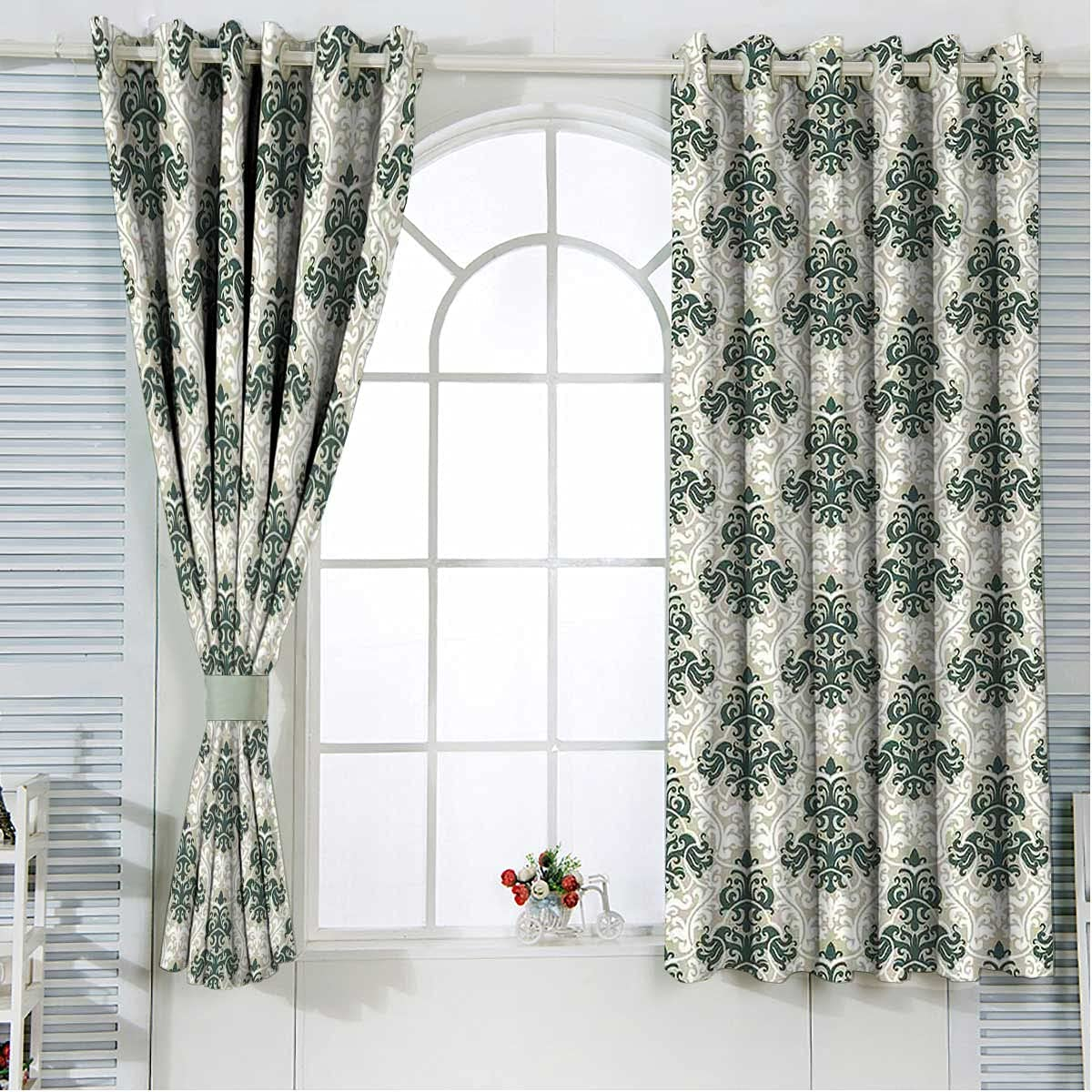 Black Curtains for Bedroom Max 52% OFF 63 Length shopping Leaf Floral Inches Foliage
