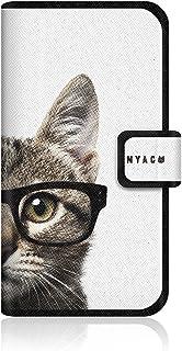 CaseMarket NYAGO apple iPhone 6 (4.7インチ) (iPhone6) 手帳型 オリジナルデザイン スリム ケース [ NYAGO ノート キュート メガネ フェイス キャット ]