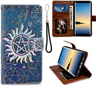 Wallet Case Fit for Galaxy S7 Edge (2016) 5.5 Version Angels Castiel Dean Demons Galaxy Purple Sam Spells Supernatural Winchesters with Coin Slot