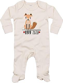 Kleckerliese Baby Schlafanzug Strampler Schlafstrampler Sprüche Jungen Mädchen Motiv Born 2020 Tiermotiv Tiere Fuchs