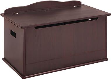 Guidecraft Espresso - Dark Cherry Expressions Toy Box - Trunk & Chest Kids Storage Furniture