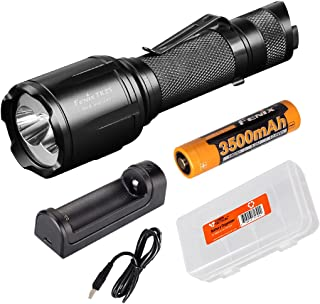 Image of Fenix TK25 Red Version 1000 Lumen Dual White and Red Output Tactical Hunting Flashlight 3500mAh 18650 Rechargeable Battery, are-X1 Battery Charger, and Lumen Tactical Battery Organizer