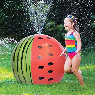 "JOYIN Mega Melon Ball Jumbo Sprinkler, 35.5"" Watermelon Inflatable Sprinkler Toys for Kids Toddlers"