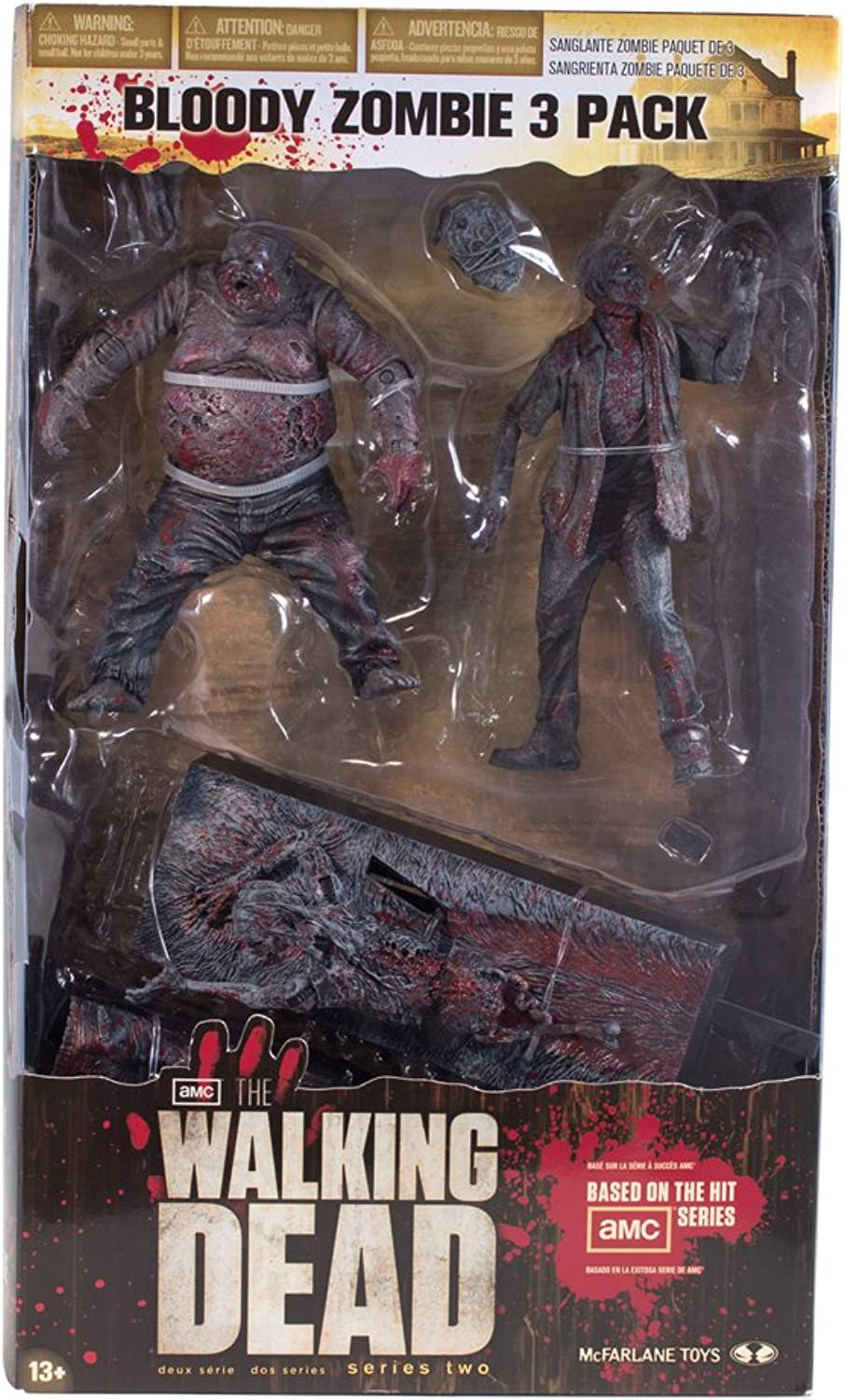 McFarlane Toys The Walking Dead TV  Bloody Black and White Zombie, 3 Pack