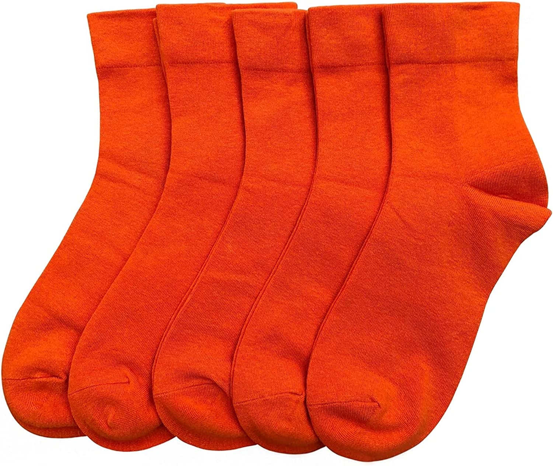 Womens Bright Colorful Crew Socks Tie-dye Sports Vivid Neon Fashion Funny Casual Socks 5 Pairs