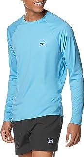 Speedo Men's Uv Swim Shirt Easy Long Sleeve Regular Fit Rash Guard Shirt
