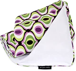"""The Stroller Blanket, Soft Minky and 100% Cotton 41"""" x 30"""", Spa Pattern"""