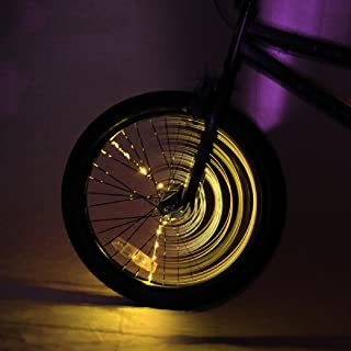 Brightz SpokeBrightz LED Bicycle Spoke Accessory Light (for 1 Wheel), Gold