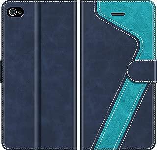 MOBESV Funda para iPhone 4S, Funda Libro iPhone 4S, Funda Móvil iPhone 4S Magnético Carcasa para iPhone 4S / iPhone 4 Funda con Tapa, Azul
