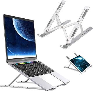 Laptop Stand,Asltoy Adjustable Aluminum Portable Laptop Holder Computer Tablet Stand,Ergonomic Foldable Universal Desktop Stand Holder for 7-15.6 inch Tablet Notebook Ventilated Riser (Silver)