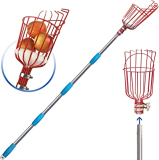 COCONUT Fruit Picker Tool, Fruit Picker with Basket and Pole Easy to Assemble & Use Fruits Catcher Tree Picker for Getting...