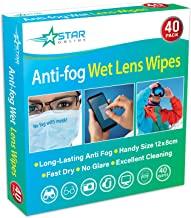 Anti Fog Wipes for Glasses 40 Pack – Fast Dry, No Glare - Stop Glasses/Lens from Steaming, Long Lasting Up to 24 Hours.