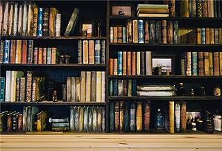 EdCott 9x6 pies Vinilo Libros Antiguos en estantería Retro Telón de Fondo Biblioteca histórica Fotografía Fondo Interior Decoraciones Fondo de Pantalla Actividades de Lectura Fondo Photo Studio Props