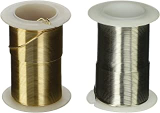 Beadsmith WCR-4132 11.8m Aluminum Craft Wire Gold 12 gallon//39