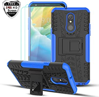 Numy LG Stylo 5 Case,LG Stylo 5 Phone Case,w 2PCS HD Screen Protector,Dual Layer Shockproof & Protective Case,Attractive Tire Appearance-Blue
