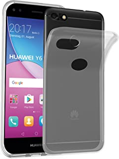 Cadorabo Case Works with Huawei Y6 PRO 2017 TPU Silicone Cover FULLY TRANSPARENT DE-116119
