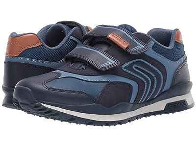 Geox Kids Jr Pavel 23 (Big Kid) (Navy) Boys Shoes