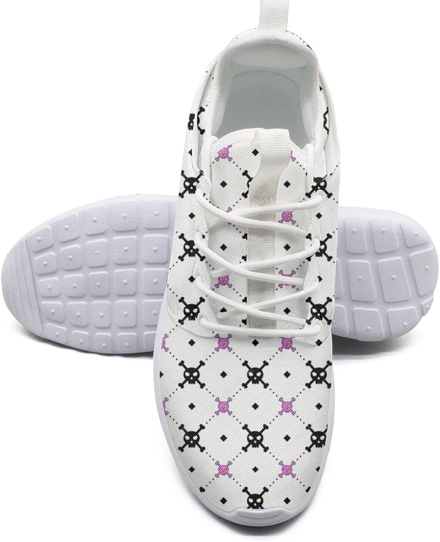 Skulls Print Women's Lightweight Mesh Tennis Sneakers Casual Running shoes
