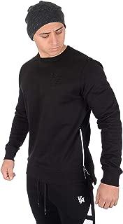 Crewneck Sweatshirt Sweaters Men Pullover Side Zipper 517