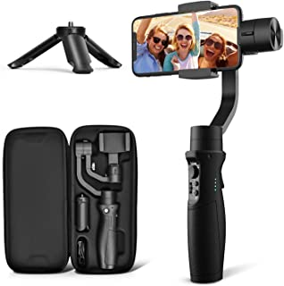 3-Axis Gimbal Stabilizer for iPhone 11 PRO MAX X XR XS Smartphone Vlog Youtuber Live Video Record with Sport Inception Mod...