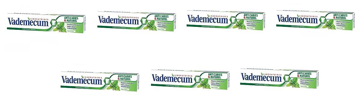 接触ネットちょうつがいVademecum (バデメクン) シュワルツコフヘンケル Anti Cavity & Naturel Herbal Toothpaste 75ml ハーブの歯磨き粉 スウェーデンの王 王室御用達 7個入り [ドイツ製] [並行輸入品]