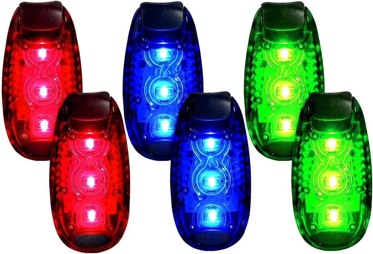 QLOVEL Luxury goods LED Safety Light 6 Pack Lights Clip On Max 54% OFF Running Strobe