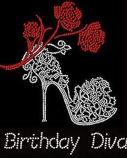 Birthday Diva Rhinestone Iron on Transfer