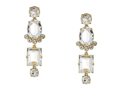 J.Crew York Midscale Earrings (Crystal) Earring