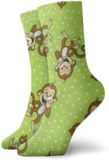yting, Niños Niñas Locos Divertidos Divertidos Calcetines de Mono Verde Calcetines Lindos de Novedad