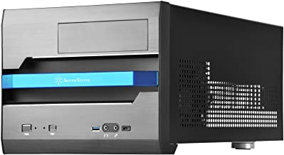 SilverStone Technology Micro-ATX Small Form Factor with Aluminum Front Panel Computer Case Gaming SST-SG12B-V2-USA