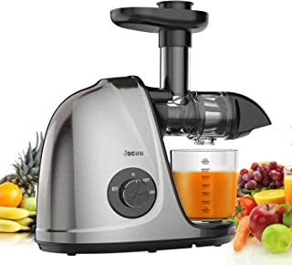 Jocuu Slow Masticating Juicer Machines with Brush & Recipes, Juice Extractor, Gray
