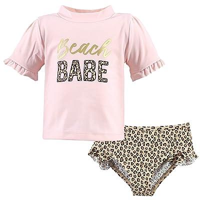 Hudson Baby Hudson Baby Unisex Baby Swim Rashguard Set, Beach Babe, 3-6 Months