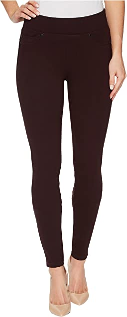 Piper Hugger Pull-On Leggings in Silky Soft Ponte Knit with Lift and Shape Qualities in Aubergine