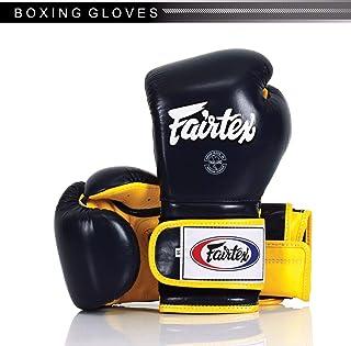 Fairtex Genuine New BGV9 Pro Training Mexican Style Improved Padding Dark Blue with Yellow Palm