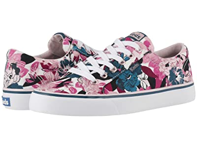 Keds Jump Kick Floral (White/Teal Twill) Women