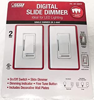 Feit Electric Digital Slide Dimmer Ideal for Led Lighting 2 Pack