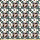 ABAKUHAUS Geometrisch Satin Stoff als Meterware, Spanisch