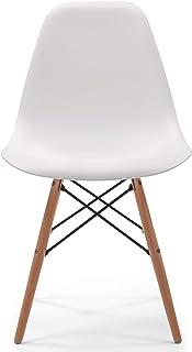 Silla de Cocina/Comedor de diseño nórdico-Scandi, Inspiración Silla Tower - Blanco